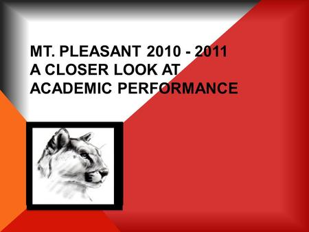 MT. PLEASANT 2010 - 2011 A CLOSER LOOK AT ACADEMIC PERFORMANCE.