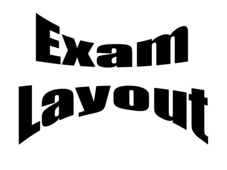 Exam Layout.