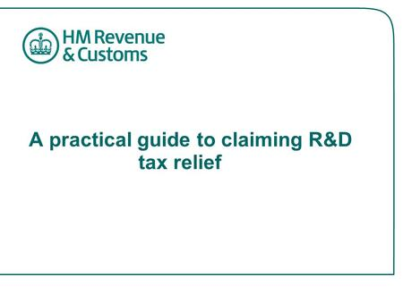 A practical guide to claiming R&D tax relief. How the relief works R&D tax credits – company tax relief which gives an increased deduction for certain.