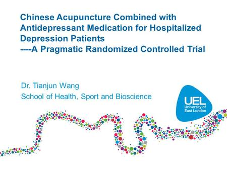 Chinese Acupuncture Combined with Antidepressant Medication for Hospitalized Depression Patients ----A Pragmatic Randomized Controlled Trial Dr. Tianjun.