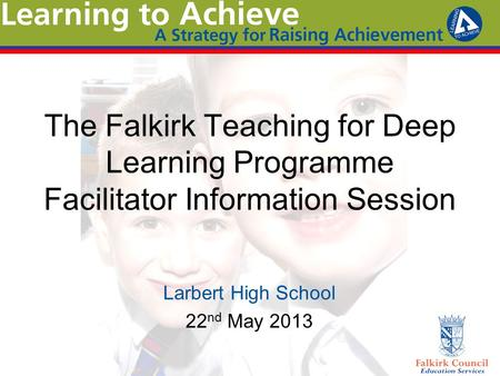 Larbert High School 22nd May 2013