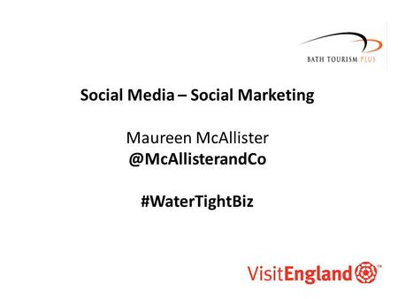 McAllister and Co Social Media – Social Marketing Maureen #WaterTightBiz.