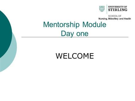Mentorship Module Day one