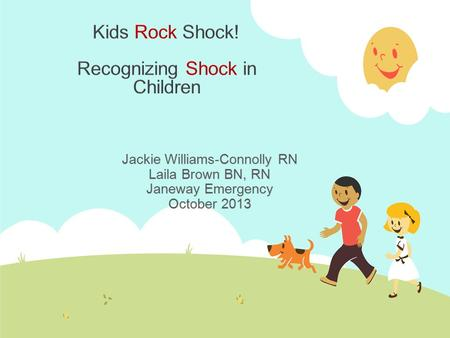 Kids Rock Shock! Recognizing Shock in Children