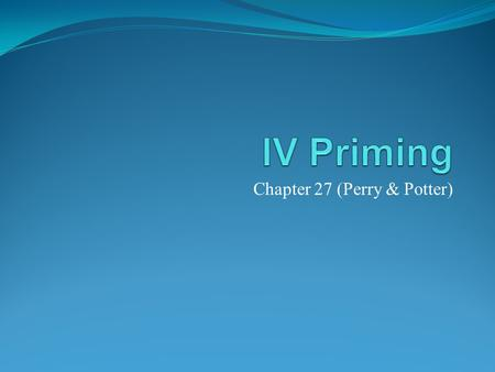 Chapter 27 (Perry & Potter)