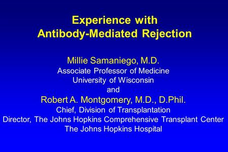 Antibody-Mediated Rejection