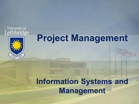 Project Management Information Systems and Management.