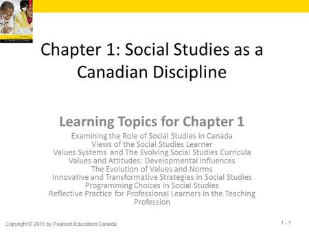 Chapter 1: Social Studies as a Canadian Discipline