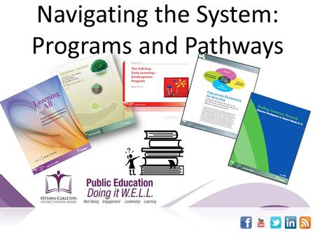 Navigating the System: Programs and Pathways. Understanding the Context My field of work – Essential skills required in my current field of work My personal.