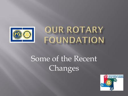 Some of the Recent Changes.  A $9.5 million Matching Grant budget for 2009-10  Represents a 70% reduction from 2008-09 Rotary year  Applications are.