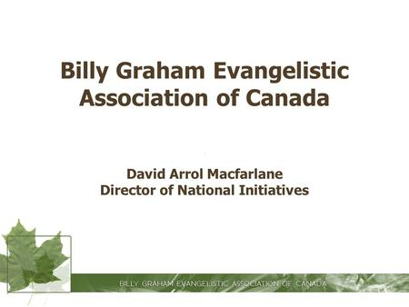 Billy Graham Evangelistic Association of Canada
