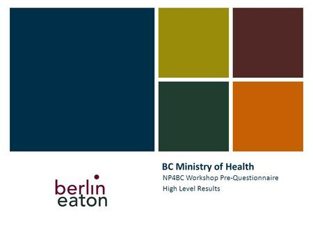 BC Ministry of Health NP4BC Workshop Pre-Questionnaire High Level Results.