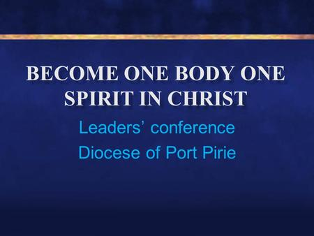 Leaders' conference Diocese of Port Pirie. What have you heard about the new texts? How do you feel about introducing the new texts?
