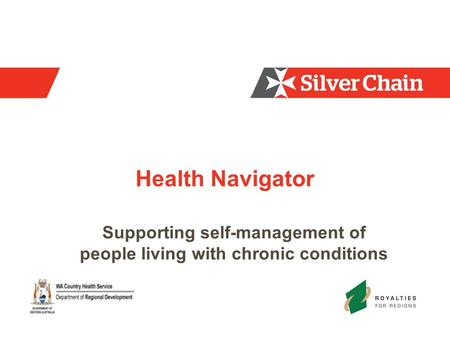 Health Navigator Supporting self-management of people living with chronic conditions.