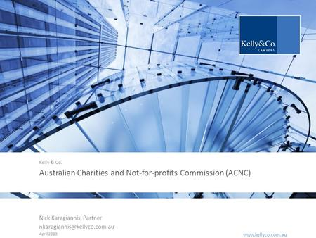 |  Australian Charities and Not-for-profits Commission (ACNC) Nick Karagiannis, Partner