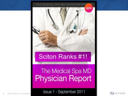 © 2011 Sciton, Inc. All rights reserved.1 Sciton Ranks #1!