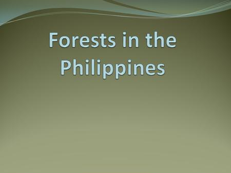 Philippine Forest The Philippines is one of the most biologically diverse nations in the world. Species endemism is very high covering at least 25 genera.