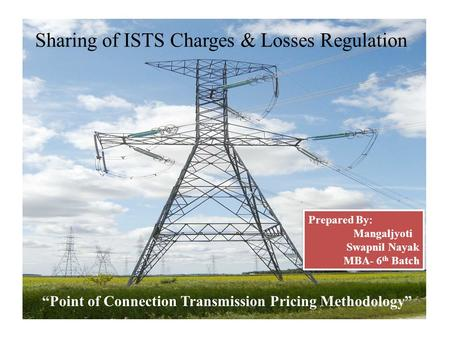 Sharing of ISTS Charges & Losses Regulation