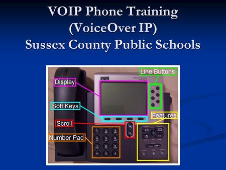 VOIP Phone Training (VoiceOver IP) Sussex County Public Schools.