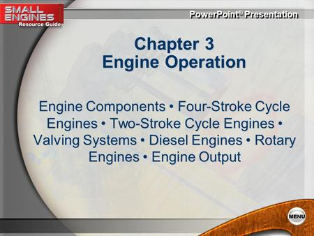 Chapter 3 Engine Operation