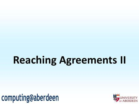 Reaching Agreements II. 2 What utility does a deal give an agent? Given encounter  T 1,T 2  in task domain  T,{1,2},c  We define the utility of a.