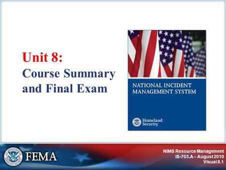 Course Summary and Final Exam