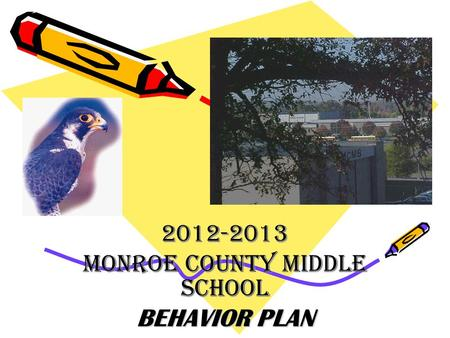 2012-2013 MONROE COUNTY MIDDLE SCHOOL BEHAVIOR PLAN.