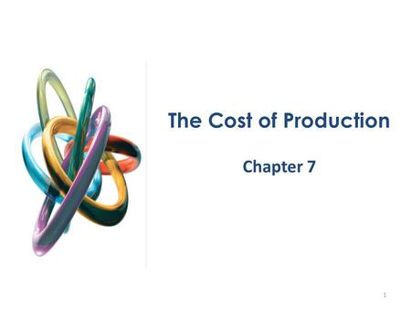 The Cost of Production Chapter 7