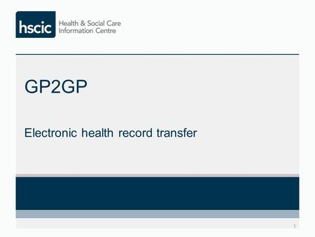 GP2GP Electronic health record transfer 1. What is GP2GP? GP2GP is a software application that can be used to transfer a patient's electronic health record.