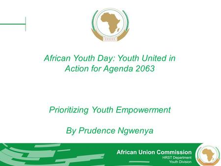 African Youth Day: Youth United in Action for Agenda 2063