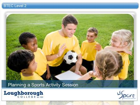 Planning a Sports Activity Session