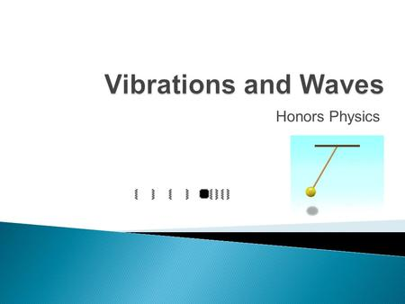 Vibrations and Waves Honors Physics.
