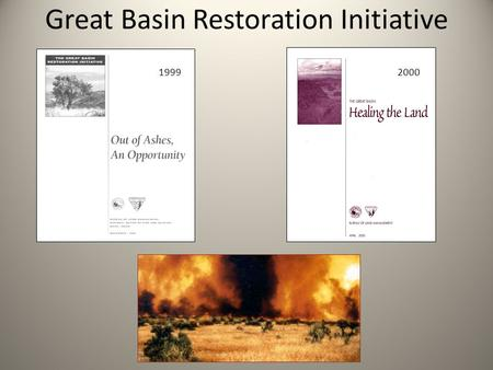 Great Basin Restoration Initiative 19992000. GBRI Field Office to On-the Ground Project.