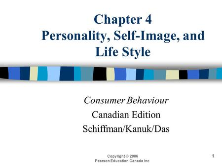Chapter 4 Personality, Self-Image, and Life Style