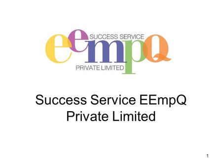 Success Service EEmpQ Private Limited 1. Curriculum Vitae - CV Rules Length of the CV - One to Two Pages Understand what skills the employer needs for.