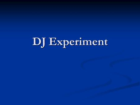 DJ Experiment. REST TIRED AWAKE DREAM SNORE BED.