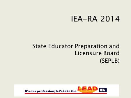 State Educator Preparation and Licensure Board (SEPLB)