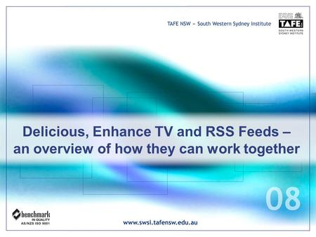 Delicious, Enhance TV and RSS Feeds – an overview of how they can work together.