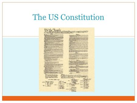 The US Constitution.