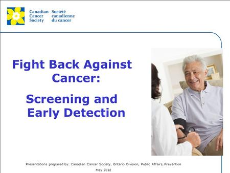 Fight Back Against Cancer: Screening and Early Detection