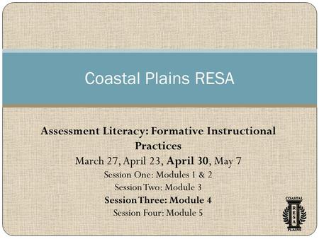 Assessment Literacy: Formative Instructional Practices
