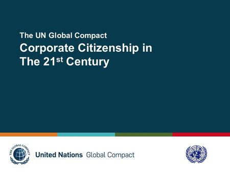 The UN Global Compact  Corporate Citizenship in