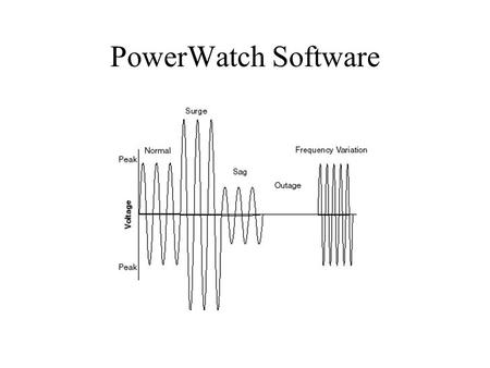PowerWatch Software. is a power quality analysis program for use with: o PowerWatch data logger.