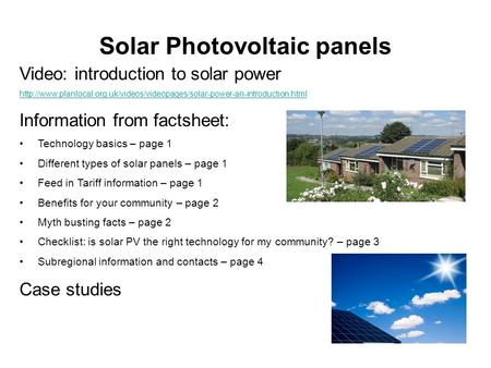 Solar Photovoltaic panels Video: introduction to solar power  Information.
