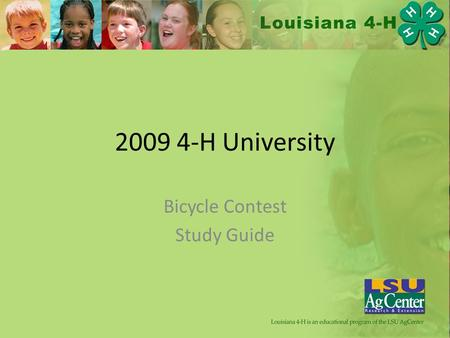 2009 4-H University Bicycle Contest Study Guide. Identification: Brakes.