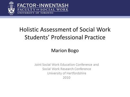Joint Social Work Education Conference and