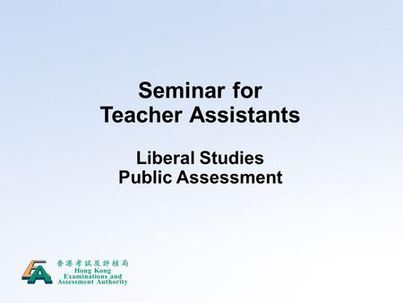 Seminar for Teacher Assistants
