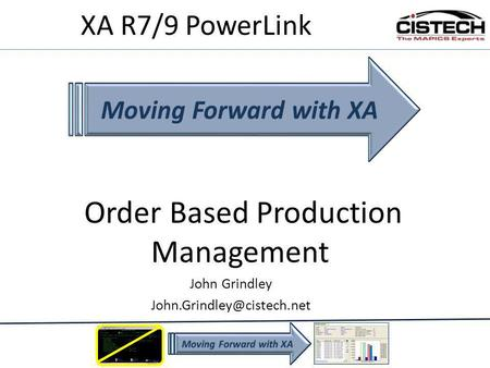 Order Based Production Management