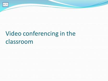 Video conferencing in the classroom. About JANET UKs education and research network Funded by DfE JISC Academic Network (JA.net) Many services JVCS –