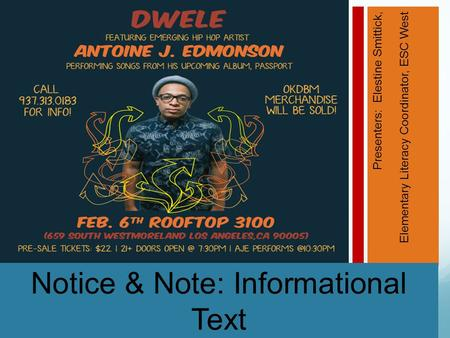 Notice & Note: Informational Text